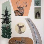 Génerations, sérigraphie et chine-collé, 110 x 76 cm
