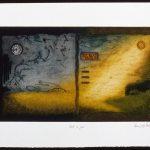 Nuit et jour, collagraphie, 37,5 x 56 cm