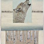 Hurleur, collagraphie, chine-collé, sérigraphie 37,5 x 27,5 cm