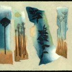 Quintet, collagraphie, 37,5 x 56 cm