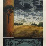 Arboréal IV, collagraphie, 110x76cm