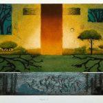 Arboréal ll, collagraphie, 56 x 76 cm
