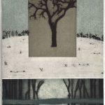 Arbores Hiberni, collagraphy, chine colle, 56 x 37,5 cm