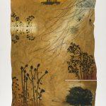Terre desséchée, collagraphie, 110 x 76 cm