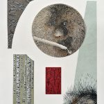 Porc-épic, sérigraphie, chine-collé, 56 x 37,5 cm