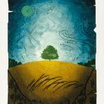 Coup de ciel, collagraphie, 110 x 76 cm