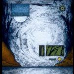 Nuit bleutée, collagraphie, 56 x 37,5 cm